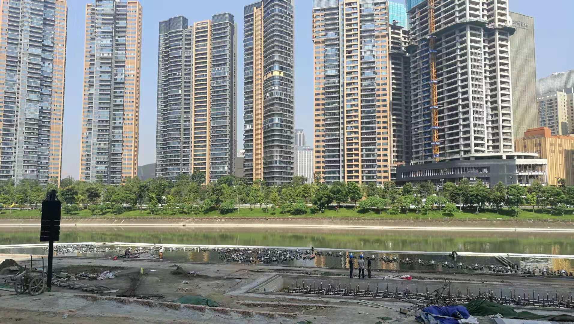 复地金融岛水秀土建工程