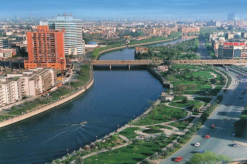 成都市府南河综合整治工程红星桥段